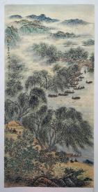 中央美术学院教授【陶一清】四尺山水