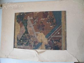 李苦禅弟子崔先生旧藏    日本清代期间 金粉等画画作一幅   尺寸21*30厘米