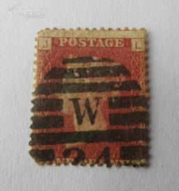 英国1840年红便士(JL)邮票1张(皇冠水印)(有齿)