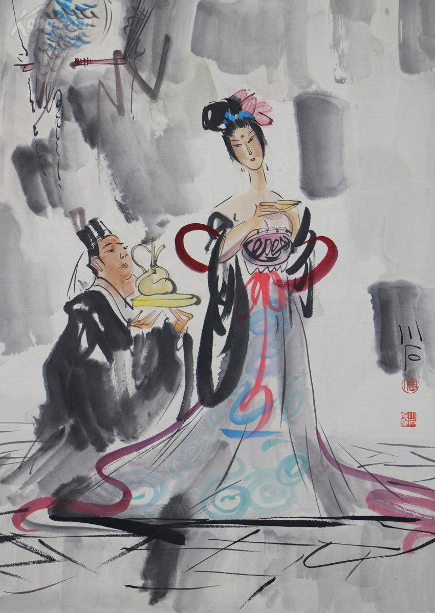 南京市残疾人协会主席一级美术师《傅小石》人物画图片