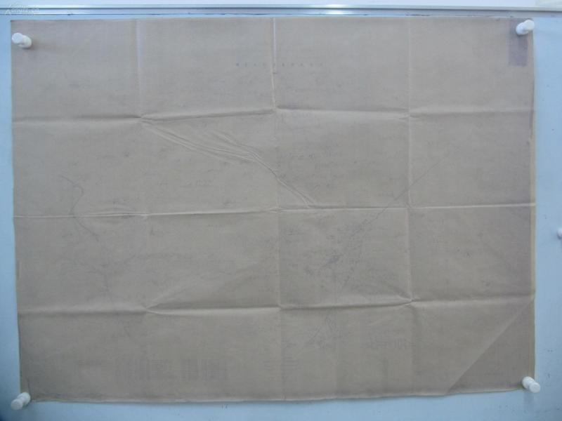 民国1922年晒蓝水利图纸一张-含东唐儿垞、邢垞、船沽等地  顺直水利委员会测量处  整体尺寸104/75厘米