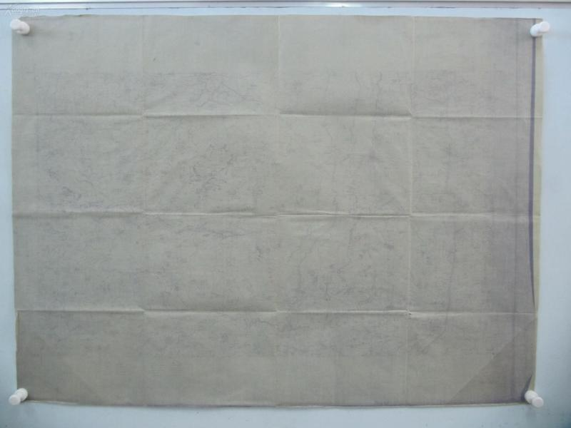 民国1922年晒蓝水利图纸一张-含孙堡营、司马堡、郞家屯等地  顺直水利委员会测量处  整体尺寸103/76厘米 15