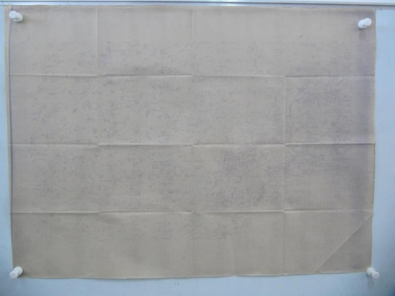 民国1922年晒蓝水利图纸一张-含小井东南、张家堂东、柳屯东南等地  顺直水利委员会测量处  整体尺寸103/76厘米 11