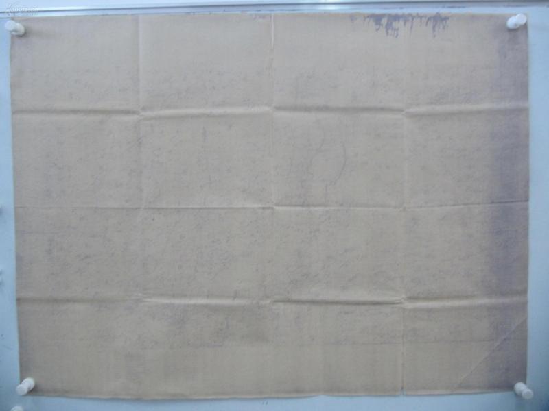 民国1922年晒蓝水利图纸一张-含大呼庄、沙岸、安庄、杨家湾等地  顺直水利委员会测量处  整体尺寸102/76厘米 09