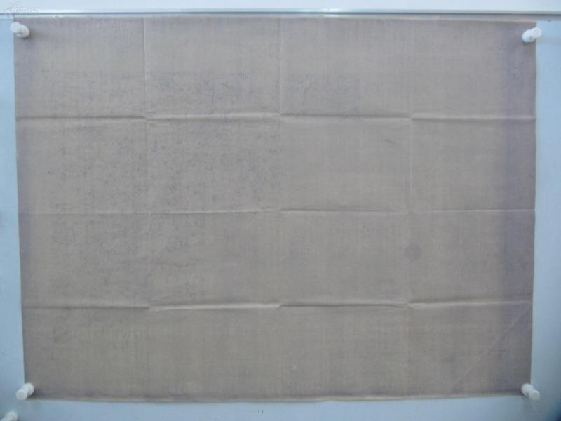 民国1922年晒蓝水利图纸一张-含南五村、张家楼、赵家村等地  顺直水利委员会测量处  整体尺寸102/76厘米 08