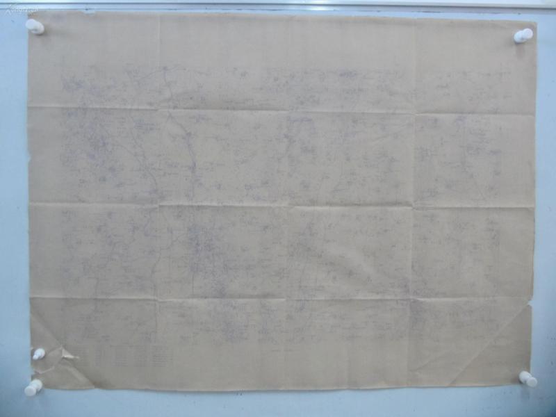 民国1922年晒蓝水利图纸一张-含老马家庄、后营村、邢家吴村、南郭寺、王常相 等地  顺直水利委员会测量处  整体尺寸103/76厘米 16