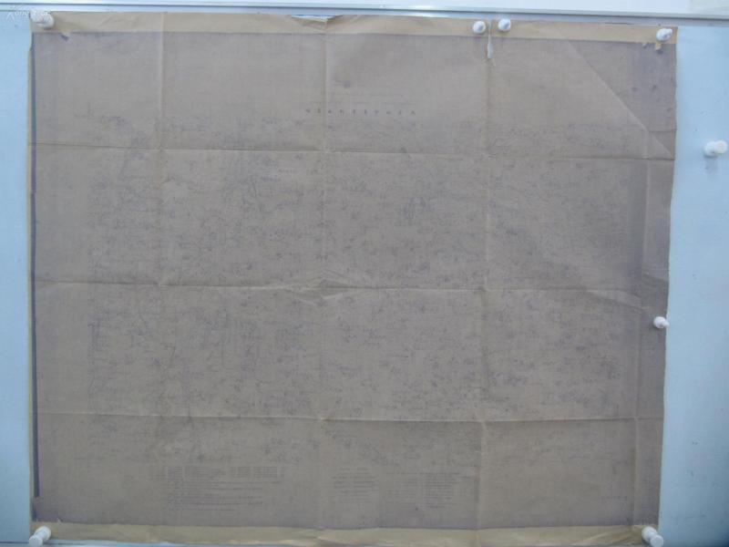 民国1922年晒蓝水利图纸一张 顺直水利委员会测量处  整体尺寸103/85厘米 01