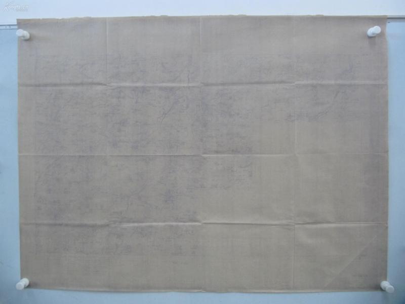 民国1922年晒蓝水利图纸一张- 顺直水利委员会测量处  整体尺寸102/76厘米 04