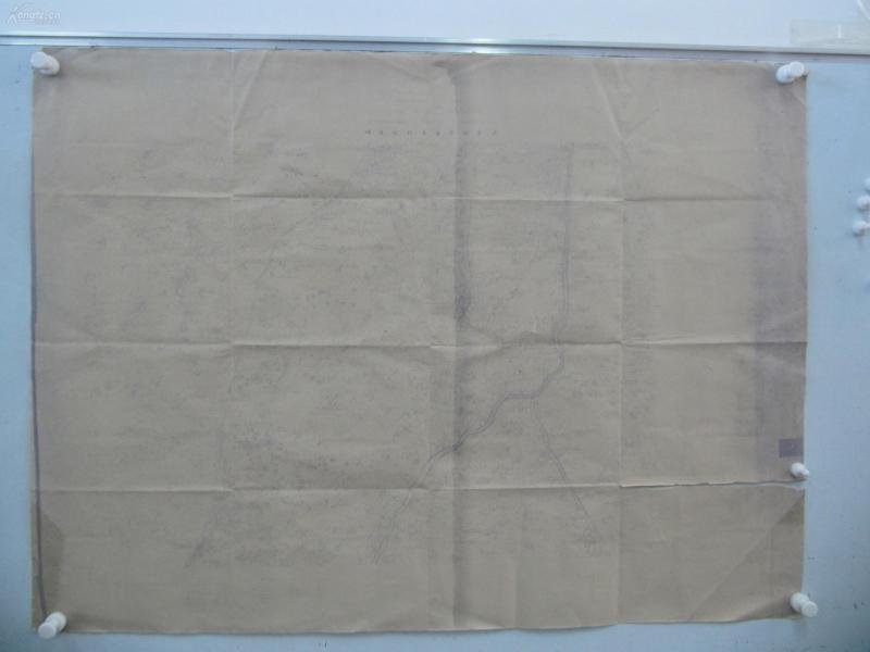 民国1922年晒蓝水利图纸一张-含滑牛张庄、蒋官屯、萧里长屯等地  顺直水利委员会测量处  整体尺寸103/75厘米 21