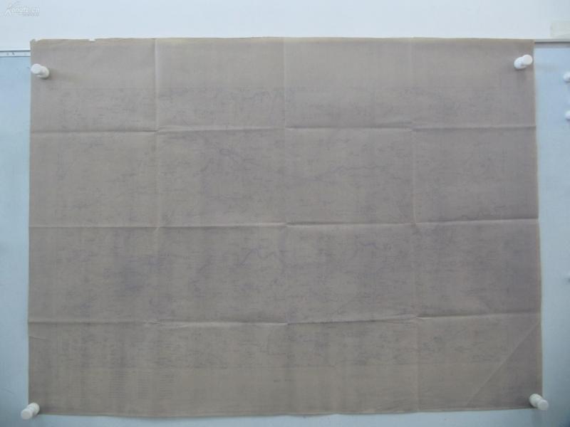民国1922年晒蓝水利图纸一张-含河岸村、温家庄、黄龙、小张固村等地  顺直水利委员会测量处  整体尺寸102/76厘米 10