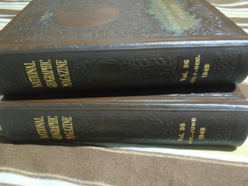 National Geographic 国家地理杂志1949年全年12期两卷合订本合售 诸多中国相关内容 原版进口 品佳包邮