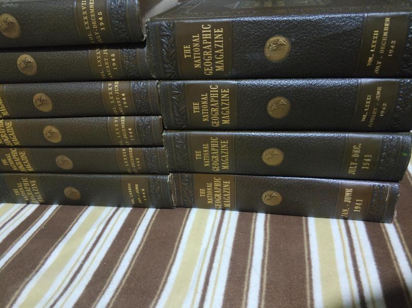 National Geographic 国家地理杂志1941-1945年五年60期十卷合订本合售  原版进口 品佳包邮