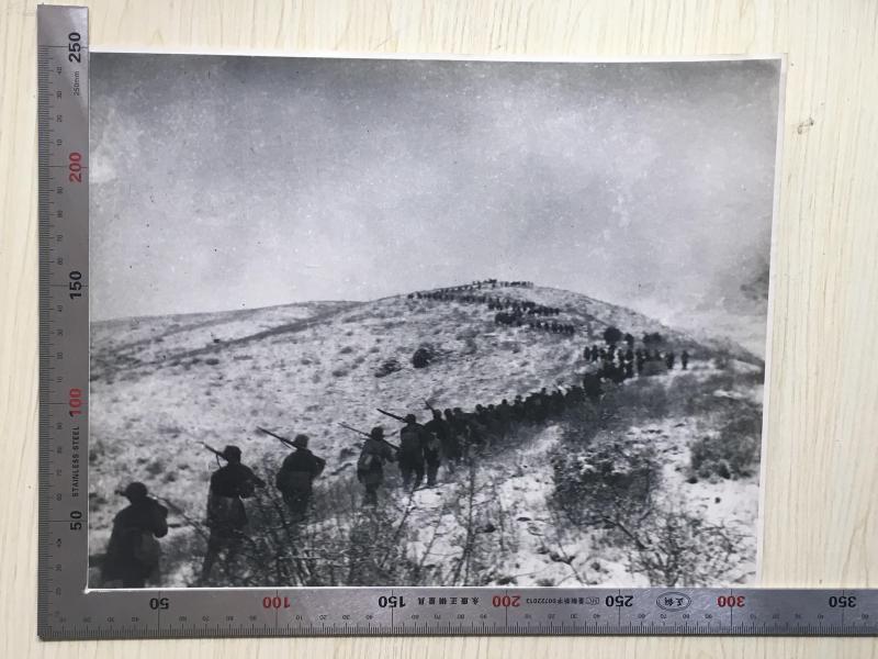 黑白老照片·勇敢的消灭敌人·大幅·315X250(mm)