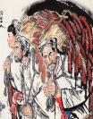 刘@文西字画名家精品写意人物斗方国画陕西名人手绘书画收藏
