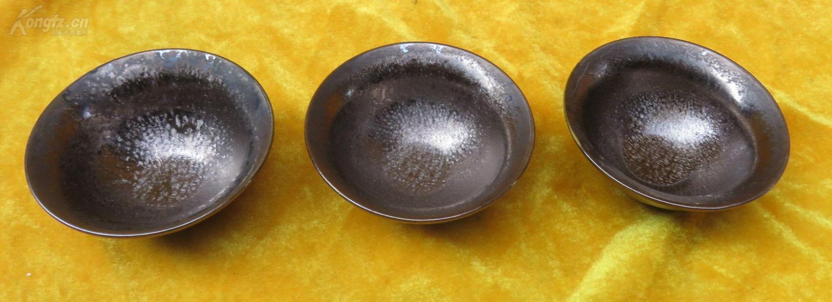 窑变缤纷陶瓷杯子3个19032311