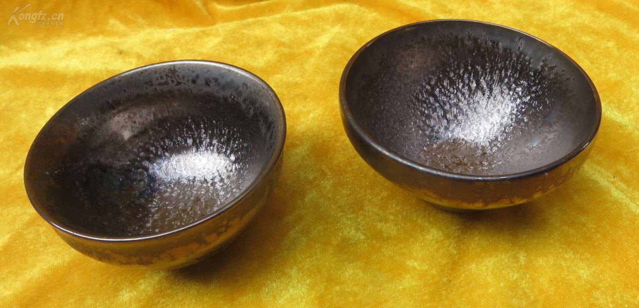窑变缤纷色彩陶瓷杯子2个19032312