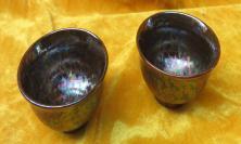 窑变缤纷色彩陶瓷杯子2个19032310
