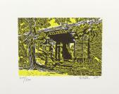 著名版画家、 中国工业版画研究院研究员 宋佳林 2012年亲笔签名 北京风情系列藏书票《北京街景》一幅(所售编号:101-120,版号随机,限量500版,作品得自于艺术家本人!)HXTX109229