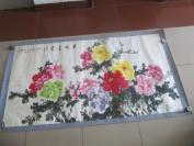 原装裱 著名画家王铎  作 花开富贵  国画一幅 尺寸167/88厘米 wb0