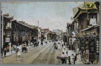 """清末 """"老上海风光""""系列之""""南京路"""" 实寄明信片一枚(尺寸:8.7*13.7cm,贴日本在华客邮邮票一枚,销上海日本在华客邮局戳) HXTX110568"""