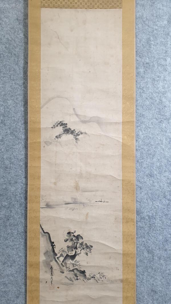 24146   纸本名家(永三立秀)手绘水墨山水