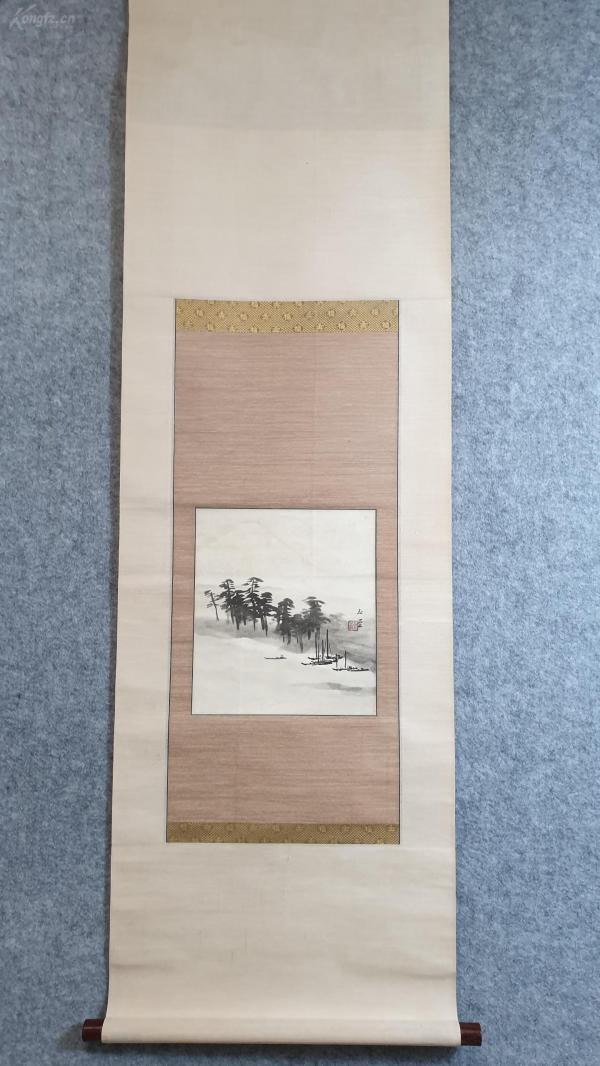 24131  纸本印刷(玉堂)山水