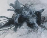 当代实力派画家、诗人 陈鱼 2019年亲笔签名版画作品《未来密码》一幅(作品直接得自于艺术家本人,尺寸:48*60cm,版号3/60) HXTX112116
