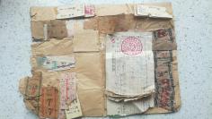 51)1964年车票等400张,有火车票,公交车票,三轮车票 、电话费收据、搬运费、补票费、住宿费等几百张