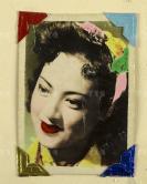 """民国时期 著名香港电影演员、长城影业公司""""二公主""""、导演傅奇之妻 石慧 手工上色 照片一张  (上海良友照片社摄,装于原装厚纸相框)HXTX113056"""