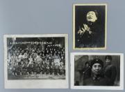1967年 《毛主席和林彪同志等中央首长观看<智取威虎山>》老照片一张 另附老照片两张(有毛泽东、林彪、周恩来等多位党政名家,其中一张照片背面有原藏者注释)HXTX113065