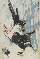 """著名画家、原上海市美协理事 俞云阶 写意画""""吉利图""""一幅(纸本托片,钤印:俞云阶 )HXTX113296"""