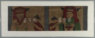 民国 手绘 祭*祀画 一幅 (尺寸:15*48cm)HXTX115739