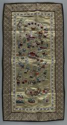 五六十年代 刺绣百子图(纯手工缝制,工艺精美) HXTX115685