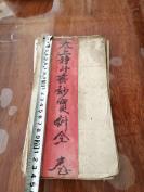 宗教古舊書籍 經折裝 手寫本24*12  《太上靜斗無妙寶科全》一冊 里面的內容完整 獨立  HJ