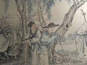 清末,全國罕見的專門畫盲人的一幅作品整幅作品有十個盲人,職業不同,男女老幼都有。。。。這個題材的古畫,全國罕見,識者珍之,識者寶之[耶][耶][耶]尺寸很大六尺左右  HJ
