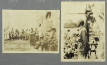 民國十五年(1926) 時任國民革命軍第六軍軍黨代表林伯渠 在湖南攸縣軍民聯歡大會上演講 老照片 兩張(背面均有原藏者注釋,為大革命時期共產黨活動,少見)HXTX119766