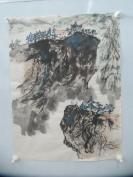 7-80年代名家畫作 山水風景一幅   45/34厘米
