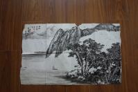 吳家麟82年繪:孤帆遠影