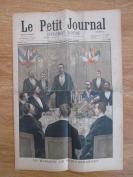 清代1900年 外國報紙一份 8開8頁內容 有彩頁圖版3幅