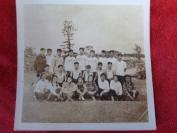 1954年,老相片6张合拍,福州第九中学初三全体毕业同学留念,品好如图。