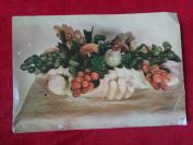 老画片一张,玛脑玉石果品,北京出版社,长10cm15.5cm,品好如图。