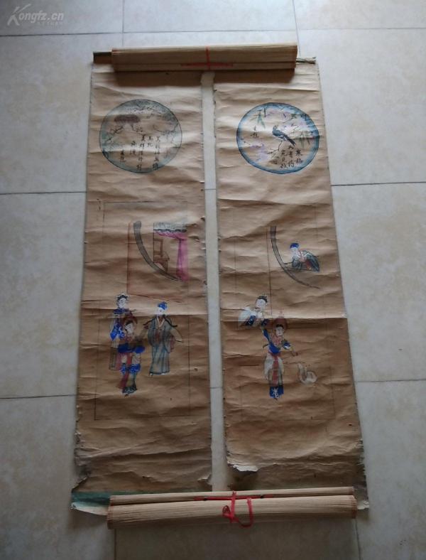 清代或民国木版年画:白蛇传
