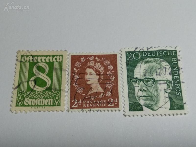 外国邮票  一组具体不懂