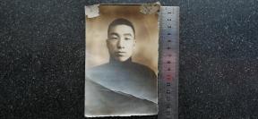38)民国老照片《英气青年》15.2X10