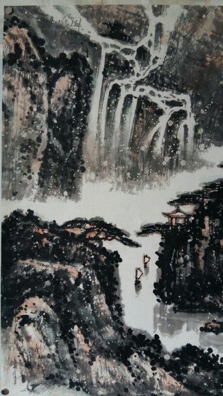 年底大促销----原900……包老……安徽亳州老画家(颜语)四尺整张图片