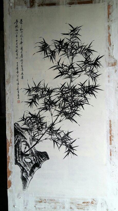 年底大促销----原500---安徽著名老画家(徐子鹤)四尺整张……竹石图图片