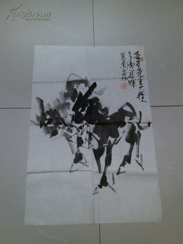 名人字画:刘金荣毛驴(萧县已故著名老画家)图片