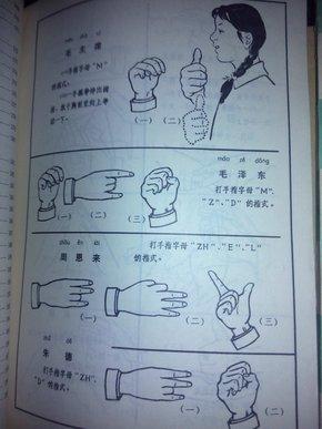 聋哑人通用手语图 第一二辑合售