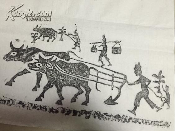 汉碑农耕图手工拓片碑帖书画字画图片