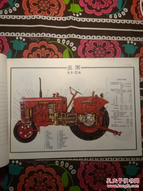 铁牛一55拖拉机结构图册